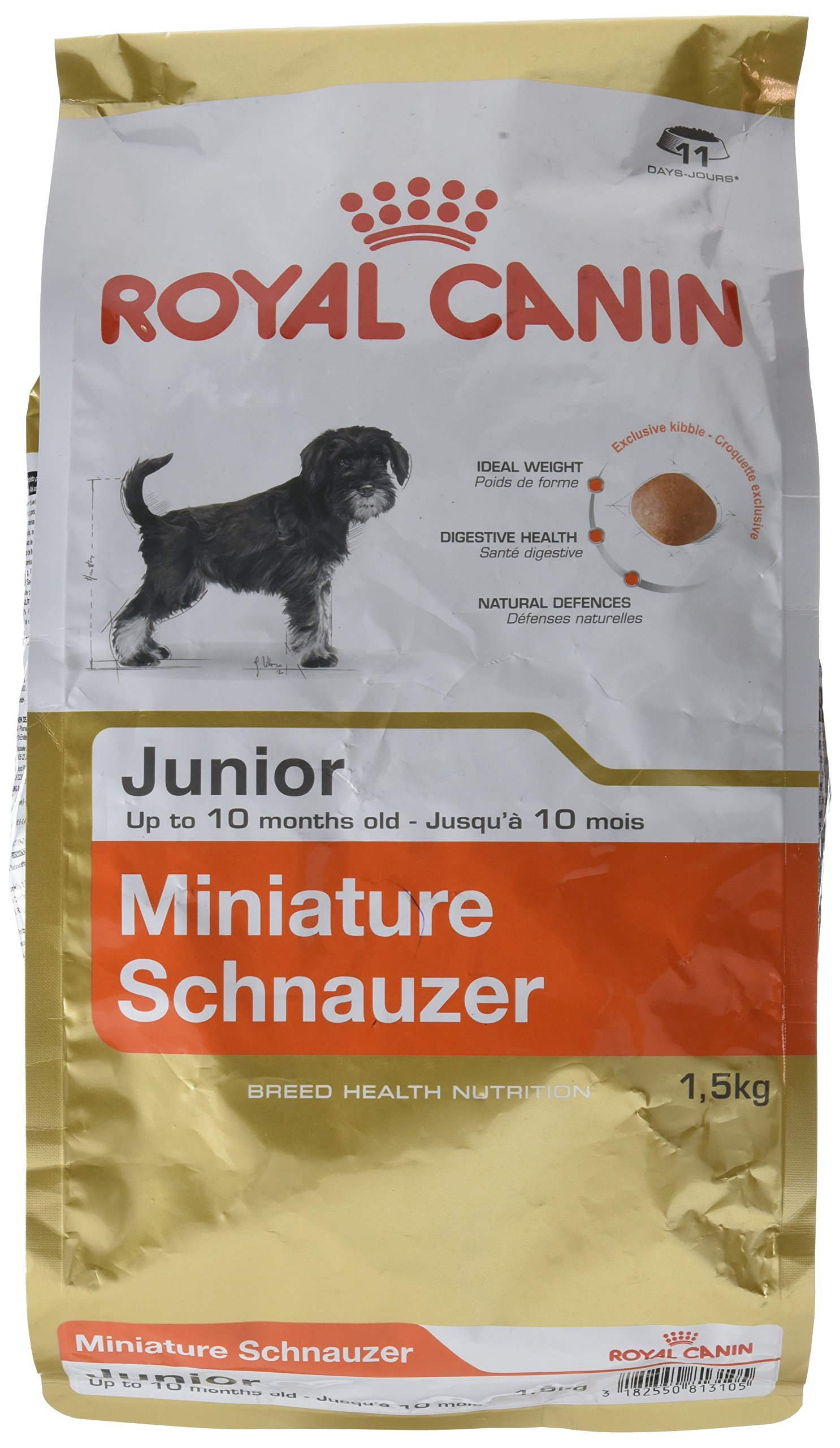 Royal Canin Dog Food Mini Schnauzer Junior Complete 1.5KG