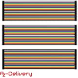 AZDelivery Jumper Wire Kabel 3 x 40 STK. je 20 cm M2M/ F2M / F2F für Arduino und Raspberry Pi Breadboard inklusive E-Book!