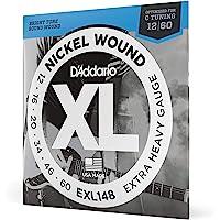 D'Addario EXL148 Set di Corde Rivestite in Nickel per Chitarra Elettrica, Extra Heavy, 12-60