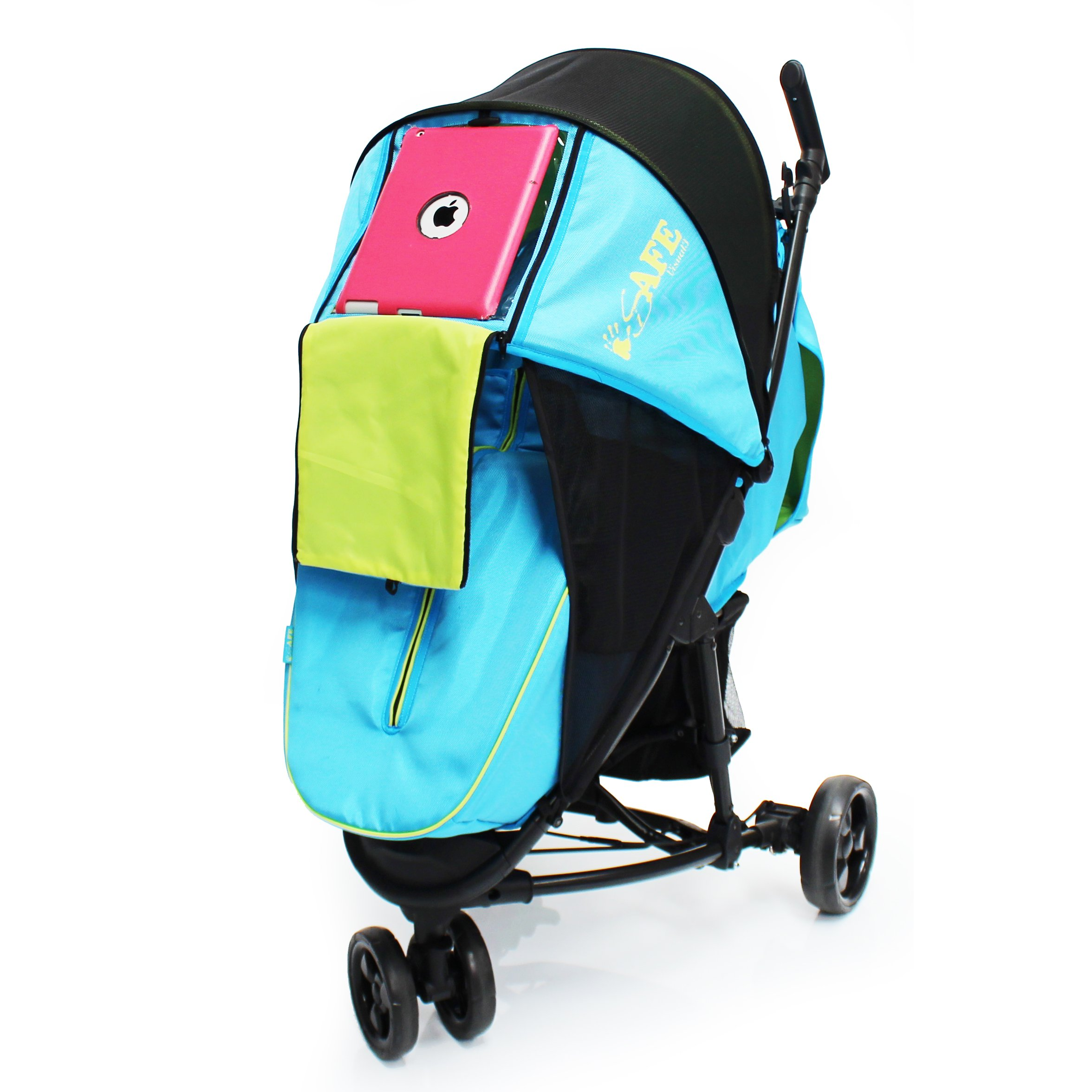 iSafe Visual 3 Raspberry Cake Three Wheeler Stroller from Birth with Tablet Smart Phone Media Pocket Baby Products