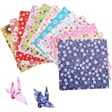 LAITER 144 Pcs Feuilles d'Origami pour Enfant 15 x 15 cm Papiers Carré en 12 Styles Différentes pour Travail Manuel Assortime
