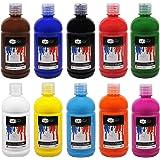 Artina Acrylfarben Set Crylic 10x500 ml Künstlerfarben - Hochwertiges Malerei Acryl Set für Profi- und Hobby-Künstler
