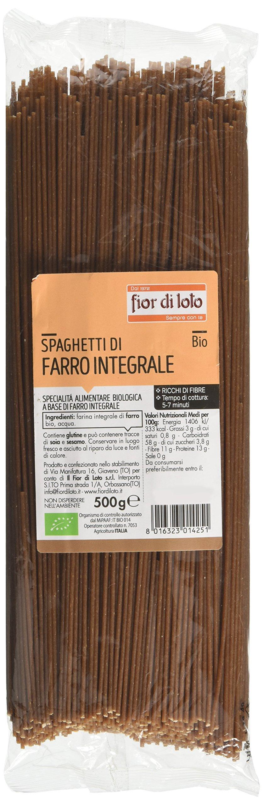 Fior di Loto Spaghetti di Farro Integrale - 500 gr