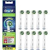 Oral-B CrossAction Opsteekborstels voor elektrische tandenborstel, 10 stuks, volledige mondreiniging met CleanMaximiser-borst