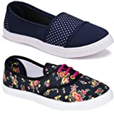 Shoefly Women Multicolour Latest Collection Loafers Shoes-Pack of 2 (Combo-(2)-611-11031)