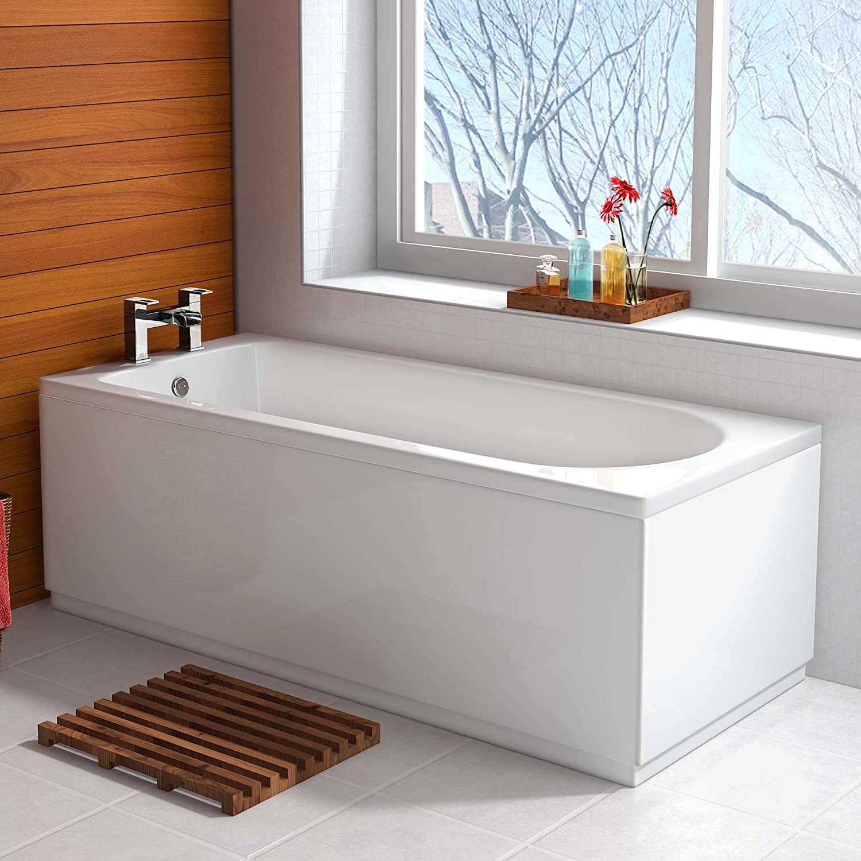 1500 x 700 Small Designer Round Single Ended Bath Straight ...