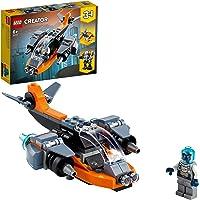 LEGO 31111 Creator Le Cyber Drone Jeu de Construction avec Cyber Mech et Scooter, Jouets de l'espace pour Les Enfants de…