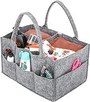 Umi. by Amazon - Baby Diaper Caddy, Portaoggetti con Scomparti Pannolino Organizzatore, Portatile Organizzatore Fasciatoio N