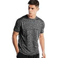 Sports T Shirt Men, Quick Dry Gym T Shirts Mens Running Top Short Sleeve