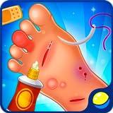 Médico de los pies - juego divertido y educativo para niños preescolares en el que los bebés se convierten en cirujanos y aprenden a curar a las personas (sus pies), así como entrenan las habilidades motoras finas y desarrollan la empatía