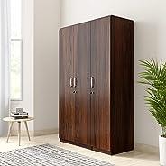 Amazon Brand - Solimo Alpha Engineered Wood 3-Door Wardrobe (Oak Finish)