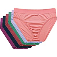 GREEN BEAUTY Women's Plus Size High Waist Panties-Pack of 6,Color- Multi-Colour
