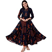 GULMOHAR JAIPUR Women's Cotton Anarkali Kurta