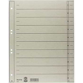 A4 grau Leitz Trennblatt durchgef/ärbter Karton