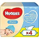 Huggies Pure Toallitas para Bebé - Paquetes de 4 x 56 toallitas - Total: 224 toallitas