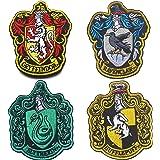 Lot de 4 écussons Harry Potter Maison de Gryffondor Poudlard à crochet et boucle au dos 10 x 8 cm
