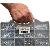 Nagelassortiment, nagelassortiment, doos, draadstiften, set in koffer, 2080 delen van klein tot groot, 19-75 mm