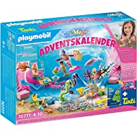 PLAYMOBIL Adventskalender 70777 Badespaß Meerjungfrauen mit vielen Überraschungen z.B. Farben der Meerjungfrauen ändern…