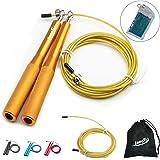 InnoTi Comba Crossfit Hombre y Mujer - Cuerda de Saltar de Alta Velocidad para Boxeo y Fitness - Comba de Aluminio Ligera par