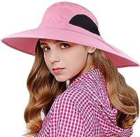 EINSKEY Wide Brim Sun Hat Summer UV Protection Beach Hat Showerproof Safari Boonie Hat Foldable Fishing Hat with...