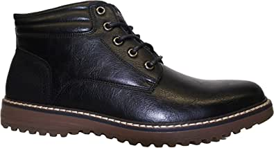 TOP STAKA Men's Boots, Leather Lace Up Winter Shoes for Work, Travel, Business, Casual Shoes