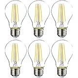 Amazon Basics Ampoule LED E27 A60 avec culot à vis, 7W (équivalent ampoule incandescente 60W), transparent avec filament - Lo