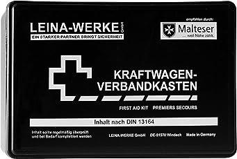 Leina Werke 10002 KFZ-Verbandkasten Standard, Schwarz/Weiß