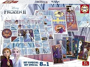 ASS 22501062 Reine des Neiges 2- Apr/ès la Maison Olaf et Sven en Tant Que Figurines 3D r/éalistes Anna Le Jeu de d/és Autour de la Course /à Pied avec Elsa