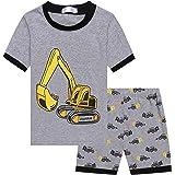 Bricnat Korte jongenspyjama kinderpyjama korte mouwen nachtkleding tweedelig shorty kledingset katoen zomer