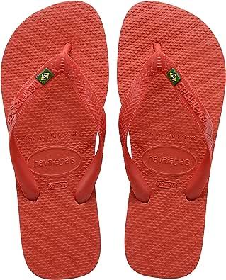 Havaianas Unisex's Brasil Logo Flip Flops, RED Crush, , 37/38 EU