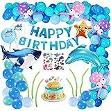 XDDIAS Festa Decorazione Palloncini, 101 Pezzi Palloncini Addobbi per Feste di Compleanno con Banner, Kit di Forniture per Fe