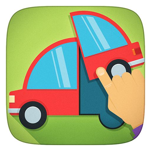 Lkw, Kräne, Fahrzeuge und alle Auto Freie Puzzles Spiele - App für Kinder Mädchen und Jungen (Baby, Kleinkind und Vorschule) -