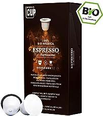 Bio Kaffeekapseln Nespresso kompatibel kompostierbar ohne Alu von My-CoffeeCup (Kaffee Espresso No. 1 Fortissimo, 10 Kapseln)