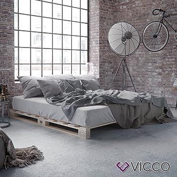 Vicco Palettenbett Bett Holz Massivholzbett 90 100 120 140 160 180