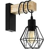 Lampada da parete EGLO TOWNSHEND 5, plafoniera vintage a 1 punto luce, lampada da parete dal design industriale, lampada retr