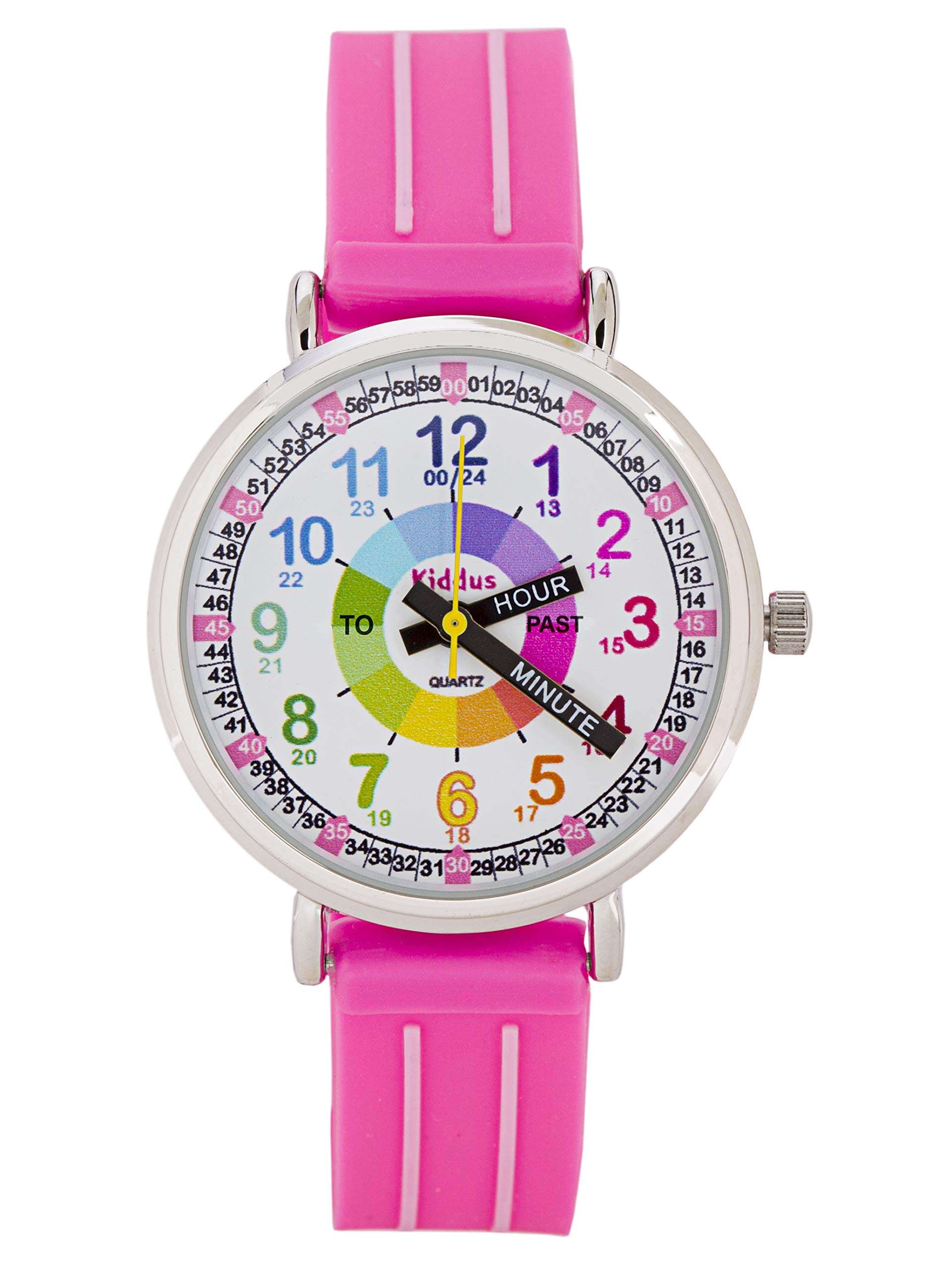 KIDDUS Wrist Watch Children Boy and Girl Analog Time Teacher with Exercises high Quality Japanese Mechanism