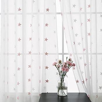 gwell kinderzimmer stern mond voile vorhang. Black Bedroom Furniture Sets. Home Design Ideas