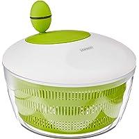 Leifheit Essoreuse à salade en plastique Trend, mécanisme d'essorage à manivelle, bouton ergonomique, utilisable comme…