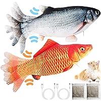 LISM Katzenspielzeug Fisch (2 Stück) Katzenspielzeug Fisch Elektrisch USB Elektrisch Spielzeug Fisch mit Katzenminze…
