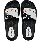 Zappy Women's Silicon Rubber Strap Slippers   Soft Footbed Flip Flop   Casual Wear -Home Wear Sliders