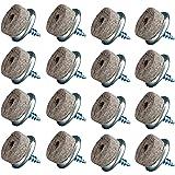 16 stuks Home Xpert meubelglijders vilt om te schroeven, viltglijders, stoelglijders, Ø 20/17 mm, voor harde vloeren