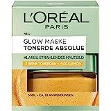L 'Oréal Paris Absolue Glow Masker, gezichtsmasker met pure kleiaarde en Yuzu lemon reinigt de huid intensief voor een helder