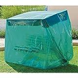 Maillesac JP0017 Housse pour Balancelle Plastique Vert Translucide 260 x 130 x 180 cm