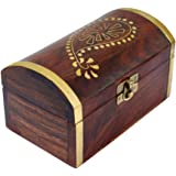 ITOS365 Handmade Wooden Jewellery Box for Women Jewel Organizer Gift Items - 6 inches