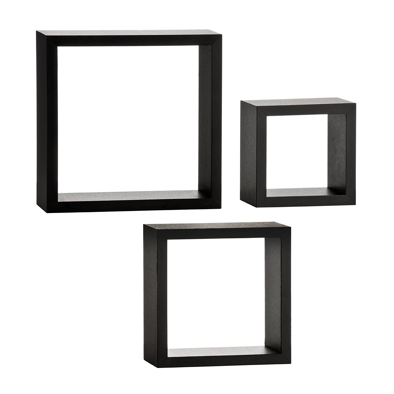 premier housewares wall cubes  set of  black amazoncouk  - premier housewares wall cubes  set of  black amazoncouk kitchen home