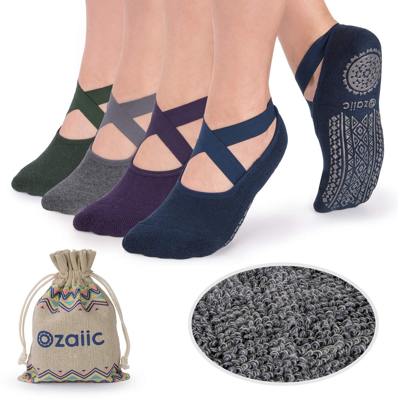 half off 23e1f d885c Ozaiic Calze Antiscivolo - Calzini Pilates da Donna, Ideali per Yoga - Face  Shop