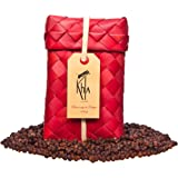 KHLA - Poivre Rouge de Kampot Premium IGP - 100g - Poivre en Grains en Sachet - Emballage Traditionnel en Feuilles de Palme