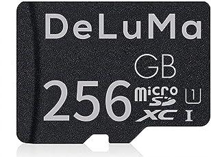 Deluma micro SD card ad alta velocità micro SD/SDXC Class 10con adattatore nero Nero 256 GB