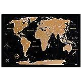 Mapa świata do zdrapywania – Kronewerk – angielski lub niemiecki – kreatywny prezent dla osób często podróżujących, w zestawi