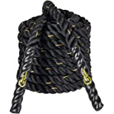 Display4top 9 m/12 m/15 m Battle rope, styrketräning, kondition, styrka, explosivitet och rörlighet, fitnessträning.